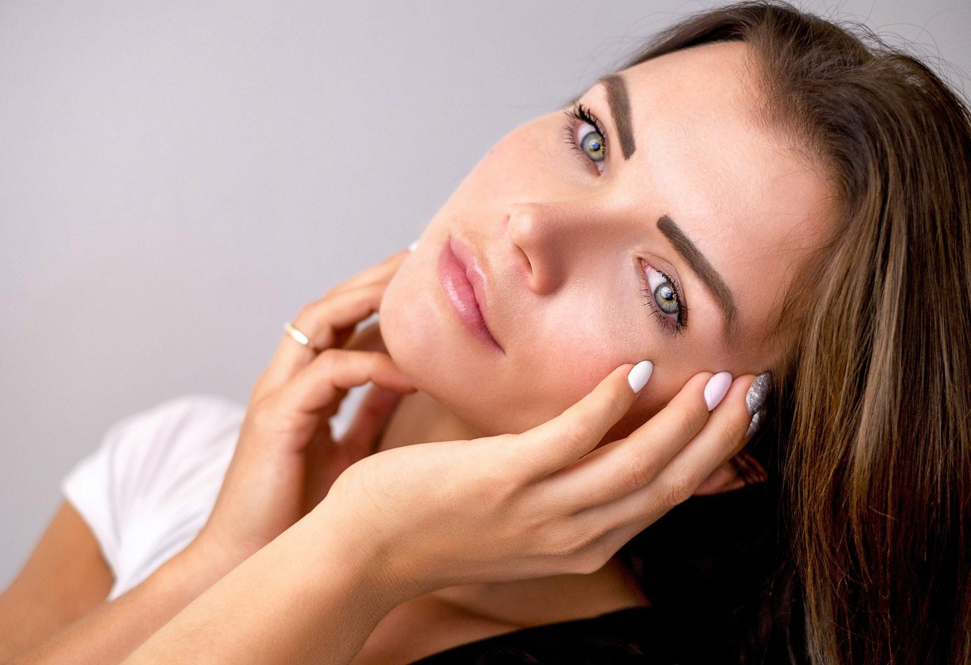 woman beauty great skin