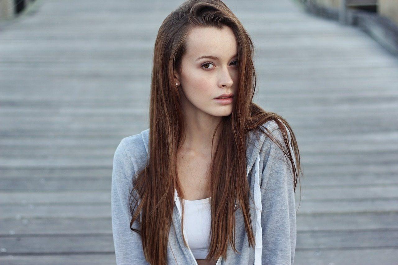 Woman portrait beautiful complexion