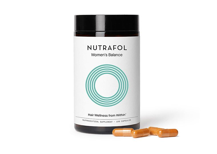 Nutrafol hair wellness treatment container for women