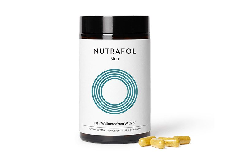 Nutrafol hair wellness treatment container for men